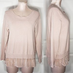 Joseph A. Blush Pink Long Sleeve Top Sz M